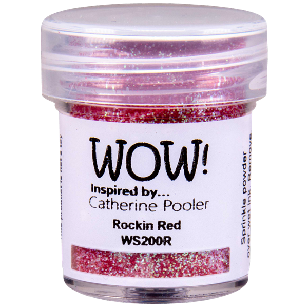 WOW Embossing Pulver - Catherine Pooler / Rockin\' Red